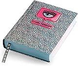DIARIO AGENDA SCUOLA 18x13cm Chiara Ferragni standard datato 2021/2022 con adesivi Ferragni + Penna luminosa led e penna multicolore profumata + portachiave paillettes