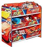 Hello Home Módulo de Almacenamiento para niños, Madera, Azul, 30x63.5x60 cm