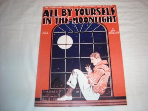 ALL BY YOURSELF IN THE MOONLIGHT JAY WALLIS 1928 SHEET SHEET MUSIC 228