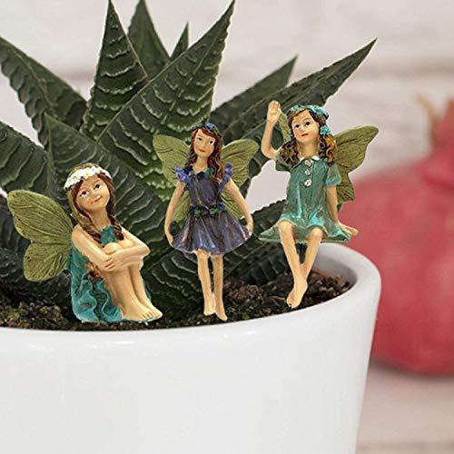 Hieefi Blumen-fee, Fee Figur, Fee Garten-Accessoires, Puppe Ornament: Bunt Fairy Skulptur-Garten-dekor 6pcs