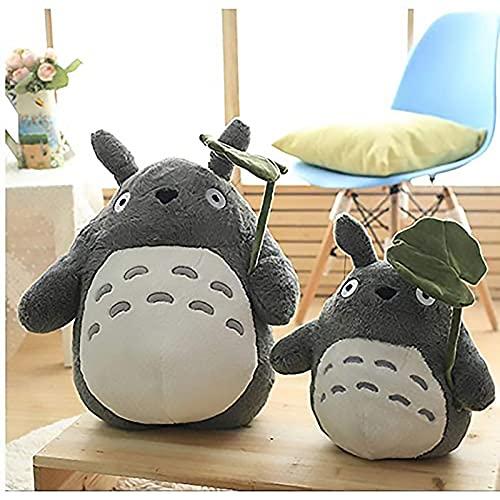 OshoeQ Totoro Bambola Di Peluche, Peluche Che Abbraccia Il Cuscino,Peluche Bambola Giocattolo,Cuscino del Fumetto Bambola Da Sposa per Ragazza Regalo Bambini (70cm/27in),Gris,40cm