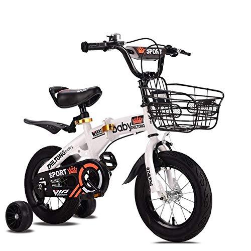 HAMHIN Bicicleta Plegable de aleación de magnesio para niños, con Cesta, Bicicleta portátil para niños y niñas (Adecuada para niños de 2 a 8 años)