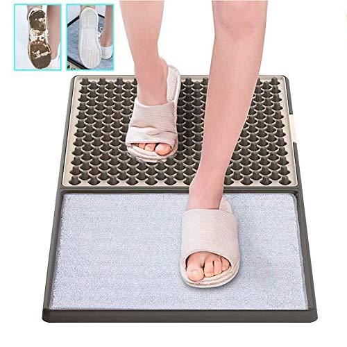XRTJ Alfombra Desinfectante,Desinfección Estera del Piso Zapatos Puerta Delantera Limpieza Automática Desinfección Felpudo For Inicio Alfombra Industrial