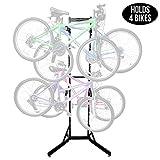 Best 4 Bike Racks - RaxGo Bike Storage Rack, 4 Bicycle Garage Floor Review
