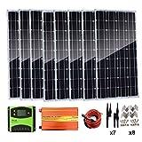 Kit de panel solar monocristalino AUECOOR de 800 W (8 unidades de...