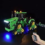 Tewerfitisme Kit de iluminación LED con mando a distancia para tractor Lego Winner 7119, compatible con el tractor Lego 7119 (no incluido).