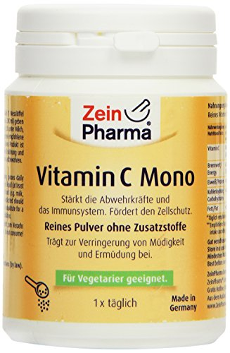 Vitamina C Mono in polvere di ZeinPharma • 250 g (fornitura per 8 mesi) • rinforza il sistema immunitario e le difese • Fatto in Germania