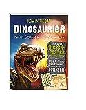 Glow-in-the-Dark Dinosaurier: Mein großer Stickeratlas: inklusive Riesenposter mit Weltkarte und über 300 Dino-Stickern