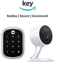 Yale Assure YRD256 SL Key Free Touchscreen Deadbolt + Amazon Cloud Cam   Key Smart Lock Kit (Satin Nickel)