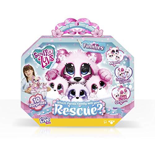 Scruff-A-Luvs 30110 Little Live Rescue Pet Surprise Soft Toy – Panda Families