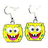 Nickelodeon SpongeBob Squarepants Cartoon Character Metal Drop Dangle Hook Earrings W/Gift Box