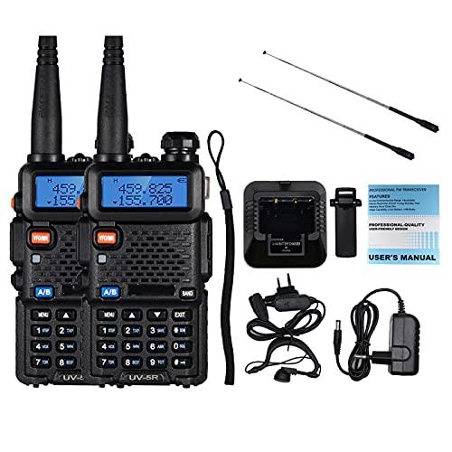 Walkie Talkie 2 unids 8W Uv-5R Walkie-Talkie, alta potencia Amateur Radio Uv5R transceptor de doble banda, 10Km Walkie-Talkie 5R-8Bkadd2Na773