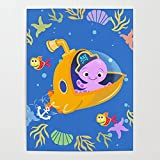 Beaxqb Pintar por Numeros Adultos Animales Marinos Pintura por Kits de números para Adultos Principiantes, Estudiantes Mural Decoración hogareña 40X50cmSin Marco