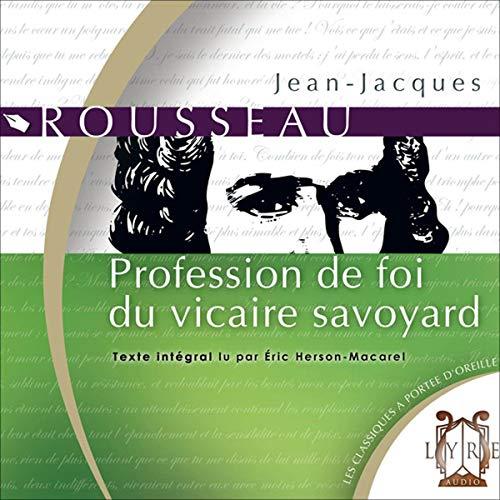 Profession de foi du vicaire savoyard cover art