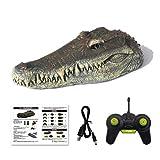 HEITIGN RC Crocodile Head 2.4g Remote Control RC Boat, Simulazione Ricarica USB Impermeabile Giocattolo Coccodrillo Scherzo Creatore Divertente Simulazione Giocattolo Spoof, 31.3 * 14.4 * 12.5cm