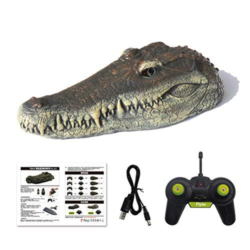 HEITIGN RC Krokodil Kopf 2,4 g Fernbedienung RC Boot, USB Lade Simulation Wasserdicht Krokodil Spielzeug Witz Streichmacher Spaß Simulation Parodie Spielzeug, 31,3 * 14,4 * 12,5 cm