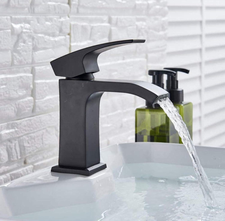 Hiwenr Schwarz Wasserfall Waschbecken Wasserhahn Deck Montiert Messing Vanity Sink Mischbatterie Hot Cold Mixer Crane Single Handle
