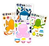 24 Pack Make-A-Sea Sticker Sheets - Stickers of All Your Kids Favorite Sea Life - Fun Craft Project...