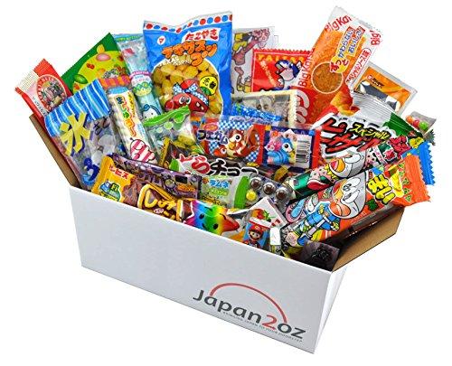 Japanisches Süssigkeiten Box Dagashi Snack Sortiment mit 30 Stück Süßigkeiten-box