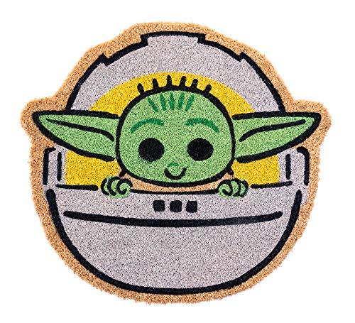 Grupo Erik FGE0024Entrada casa Baby, The Mandalorian Child-Felpudo, diseño de Yoda, 50 x 55 x 1,5 cm