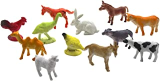 12pcs Educational Cute Mini Similation Plastic Farm Animal Toy Animal Plaything for Child Kid Baby