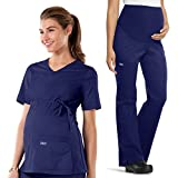 Cherokee Core Stretch Women's Maternity Scrub Top & Scrub Pant Set