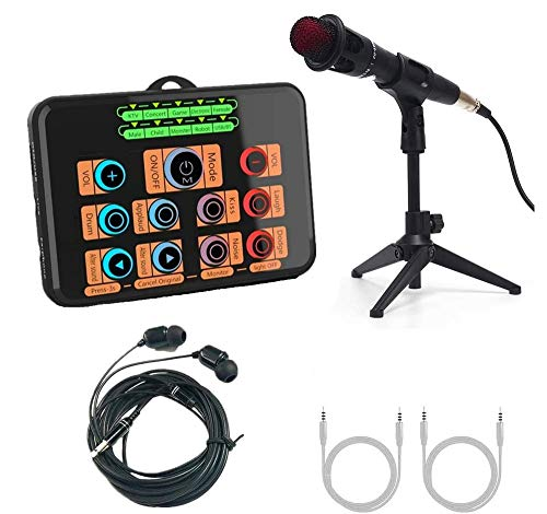 Voice Changer karaoke microphone, live sound card set, for kids / PS4 / Xbox one/NS / ps5 / PC/phone/laptops and other game entertainment equipment