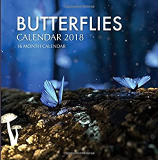 Butterflies Calendar 2018: 16 Month Calendar