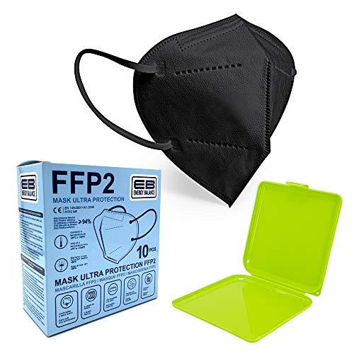 ENERGY BALANCE FFP2 Maske - Schachtel à 25 Stück - EU CE Zertifiziert, mit verstellbarem Gummiband und anpassbarem Nasenbügel| 5 Filtrationsschichten, Schützt drinnen und draußen (25-GREY)
