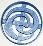 SPIRAL SWIRL SYMBOL FROM MOANA LIFE CHANGING JOURNEY FICTIONAL ANIMATED MOVIE FILM SCREEN SPECIAL OCCASION COOKIE CUTTER 3D PRINTED MADE IN USA PR2658