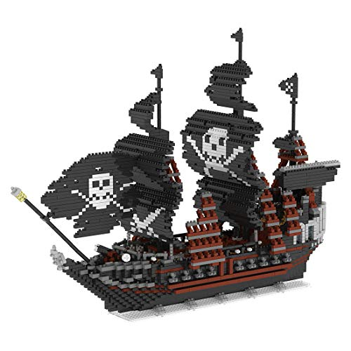HZYM Arquitectura de la perla negra, 3633 piezas Nano Mini Blocks Diamond Bricks Barco kit de modelo, modelo arquitectura no compatible con Lego