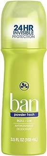 Ban Roll-On Antiperspirant Deodorant, Powder Fresh, 3.5-Ounce