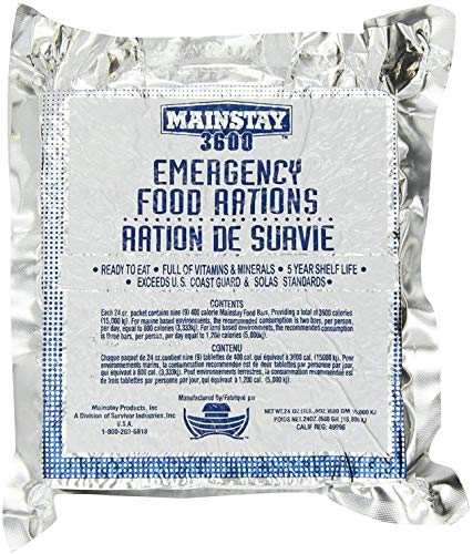 Mainstay Emergency Food Rations. One Pack. (3600-cal-1pk)