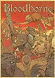 Aishangjia Bloodborne Retro Poster Vintage Poster Decoración de Pared para el hogar Bar Cafe Decoración Personalizada de la habitación Decoración del Dormitorio 50x70 cm B-2590