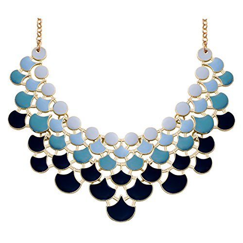 Jane Stone 2020 Fashion Bib Collar Necklace Multi-Color Enamel Gold Statement...