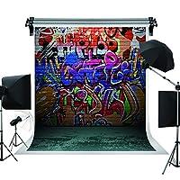 5x 7ft写真背景幕グラフィティ壁写真背景カラフルLetters Studio Backdrop for Children j01804