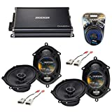 Compatible with Ford F-150 1997-2003 Factory Speaker Replacement Harmony Audio Bundle (2) R68 & CXA360.4 Amp