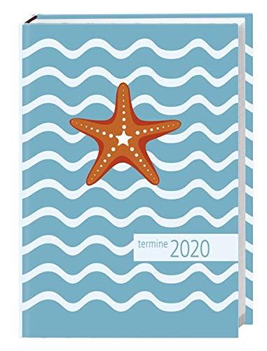 times&more Seestern blau Kalenderbuch. Taschenkalender 2020. Wochenkalendarium. gebunden. Format 11 x 15 cm