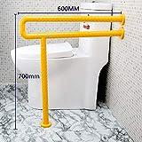 STSERI WC-Sicherheitsschienen, WC-Haltegriff-Handicap-Stützschiene, Einfache Installation, Badezimmer-Sicherheit - Badezimmerzubehör,Yellow,600cm*700cm