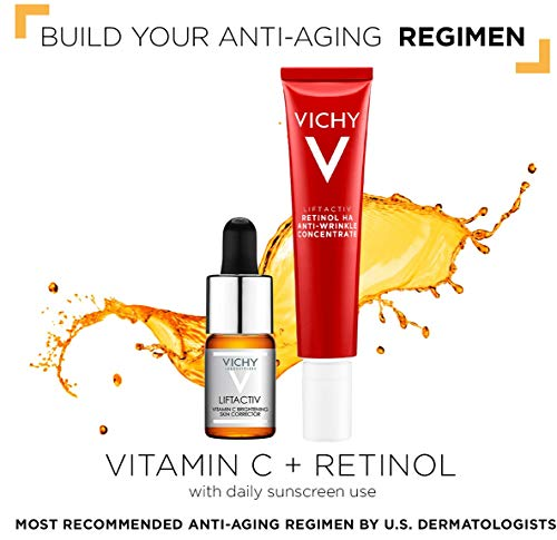 51HRN8EuxOL - Vichy LiftActiv Vitamin C Serum and Brightening Skin Corrector, Anti Aging Serum for Face with 15% Pure Vitamin C, Hyaluronic Acid and Vitamin E, for Brighter, Firmer Skin