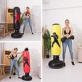 PVC Engrosado Inflable Fitness Boxeo Columna Vaso Casa Lucha Columna Sandbag Vertical Vent Juguete 1.6 Metros De Altura Puesto de Boxeo Negro 1.6 Metros de Altura