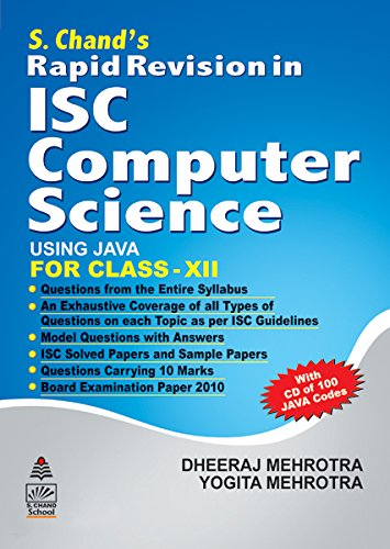 S.Chand's Rapid Revision in ISC Computer Science for Class 12