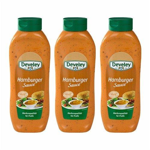 3x Develey 'Hamburger Sauce' Salsa Hamburger, 875 ml