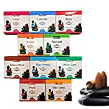 Aromatika Back Flow Natural Incense Cones 12 Packets Total 120 pcs of 10