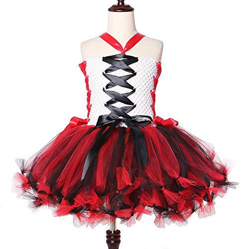 QWER Zombie-meisjes tutu jurk wit en zwart-rood Halloween-kostuums voor meisjes kinderen Scary Monster thema carnaval-feestjurken