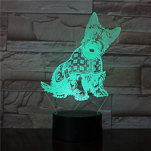 Luz De La Noche Del 3D, Led Lámpara De Mesa 7 Colores Cambiando Con El Botón De Tacto Inteligente Iluminación Decoración Dormir Lámpara Regalos Perfectos Para Niños[Clase De Eficiencia Energética A]