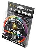 Stork HDx8, 8-Fach geflochtene premium Angelschnur 300m (Multicolor, 40 lbs / 18.1 kg / 0.28 mm)