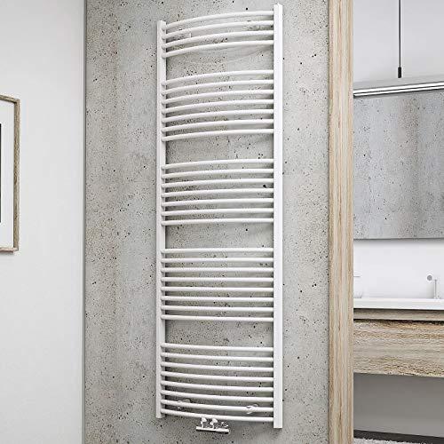 Schulte Badheizkörper Europa, 170 x 60 cm, 910 Watt Leistung, Mittelanschluss, alpinweiß, Heizkörper mit Handtuchhalter-Funktion, H281700-M 04