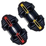 WGWNYN Trasversale Fitness Automaticamente 24kg 40kg Regolabile manubri Modello Flessibile di Peso...