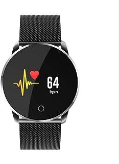 JSGJSH 2018 New Smart Bracelet LK-07 Fitness Sport Smart Watch Smartwatch Bracelet Steel Band Touch Screen Waterproof Heart Rate Blood Pressure Oxygen iOS